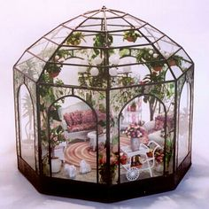 Fairy conservatory for fairy garden | fairiehollow.com