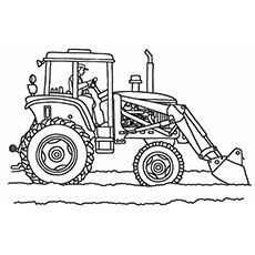 The Six Bottom Plow Tractor color