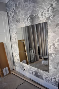 Diy Interior, Apartment Interior, Mirror Over Bed, Ikea New, Entry Foyer, Ikea Hack, Room Inspiration, Diy Furniture, Sweet Home
