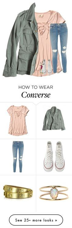 """""""now all i need is to be away from u"""" by lindsaygreys on Polyvore featuring Hollister Co., G1, Frame, Converse, Luis Morais, Tory Burch, Ralph Lauren and LUMO"""