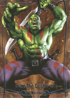 Drax the Destroyer / Marvel Masterpieces / 2014 (Joe Jusko) Destroyer Marvel, Drax The Destroyer, Comic Movies, Marvel Movies, Comic Books Art, Marvel Dc, Marvel Heroes, Marvel Universe Characters, Comics Love