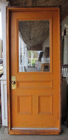 Exterior door with beautiful hardware, door knocker and privacy ...