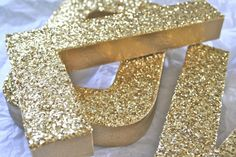 JUMBO Glittered Letters or Numbers, Wedding or Party Decor, Self Standing, ANY COLOR on Etsy, $11.95