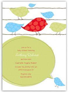 Bird motif invitation