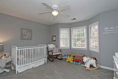1890 North Creek Cir Alpharetta Traditional Home Grey Baby Room