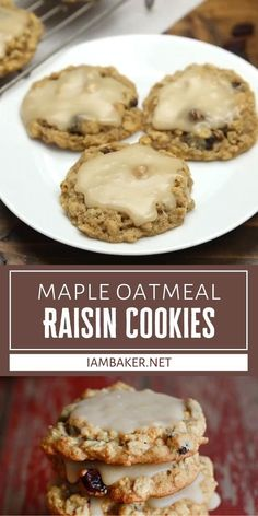 Prepare to be hooked once you try these Maple Oatmeal Raisin Cookies! Panty ingredients are all you need for this recipe. With a rich maple glaze that complements the sweet and spicy oatmeal cookie, this dessert is sure to be a family favorite on Thanksgiving!