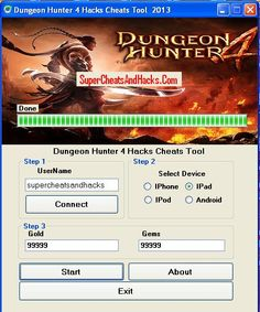 You are going to feel amazed at the power of and simplicity of this Dungeon Hunter 4 Hacks Cheats Tool Working Freely . We would like to present to you an opportunity to Discover Dungeon Hunter 4 Hacks Cheats Tool Working Freely