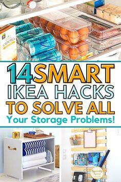 Ikea Kitchen Storage, Small Kitchen Organization, Home Organization Hacks, Storage Hacks, Organizing Ideas, Closet Organization, Storage Ideas, Toy Storage Solutions, Ikea Home