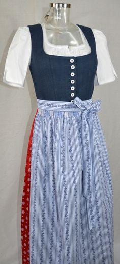 Original Salzburger - Tracht und alpiner Lifestyle zum Outlet Preis - red white blue dirndl