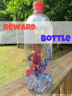 No Twiddle Twaddle: Reward chart in a Bottle. This simple activity for preschoolers uses the craft Fireworks in a Bottle as a reward system for good behavior. #readforgood @MeMeTales Childrens Stories kid-blogger-network-activities-crafts