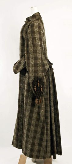 Wool, silk Coat (side view), American c. 1883 | Metropolitan Museum of Art