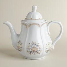 Love this! Downton Abbey Collection ~ Downton Abbey Tea Pot #WorldMarket Holiday Gifts, #DowntonAbbey #spon
