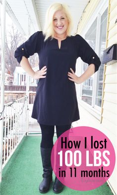 Can't believe she lost 100 pounds in 11 months!! She shares how she did it at FunCheaporFree.com #HealthyLiving #Fitness