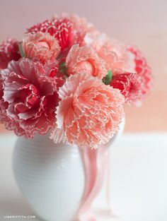 Pretty Peonies Made from Cupcake Wrappers