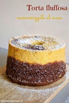 Barbie Magica Cuoca - blog di cucina: Torta fluffosa marmorizzata al cacao