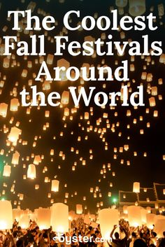 From September through November, the world hosts an array of festivals, some of which serve a religious or historical purpose while others are simply focused on partying with friends. We compiled a list of some of the most impressive fall celebrations around the globe. Mark your calendars!