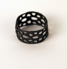 oxidized silver lace ring by ardent1