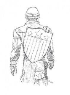 Marvel Drawing Captain America Sketch by ewrong - Visit to grab an amazing super hero shirt now on sale! Avengers Drawings, Drawing Superheroes, Avengers Art, Drawing Cartoon Characters, Comic Drawing, Character Drawing, Cartoon Drawings, Cool Drawings, Drawing Sketches