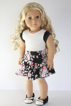 American Girl Doll 18 Inch Clothes Trendy Black by Closet4Chloe