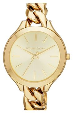 Michael Kors 'Slim Runway' Chain Bracelet Watch, 42mm | Nordstrom - My next watch purchase... oh yeah