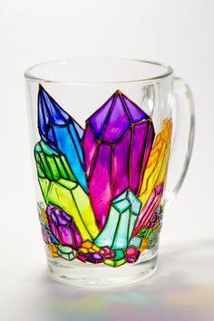 Coffee Mug Gift Crystals Gems Mug Best Friend Birthday by Vitraaze