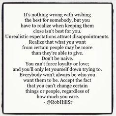 Don't be naive…