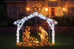 New to LifeWay this Christmas! This lighted Nativity scene offers family & friends, neighbors, and even passersby a gorgeous reminder of the true meaning of Christmas. (Easy to assemble and store. Stands 72-inches tall and includes four pieces.) http://lfwy.co/1oTzHel