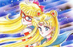 Sailor V and Sailor Moon