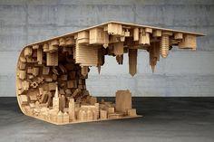 """""""Inception"""" Coffee Table desafia a gravidade e suspende Arquitectura da cidade em Mid-air - My Met Modern"""
