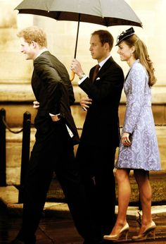 Prince Harry, Prince William, and Kate