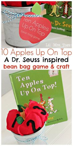 How to Make Apple Bean Bags + Game – Dr. Seuss Inspired Activity