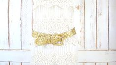 Metallic gold woven rope belt/vintage faux by GreenCanyonTradingCo, $28.00