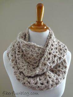 Fiber Flux...Adventures in Stitching: Free Crochet Pattern...Pavement Infinity Scarf!