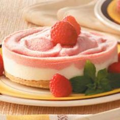 Frozen Raspberry Cheesecakes Recipe using Trefoil Girl Scout cookies