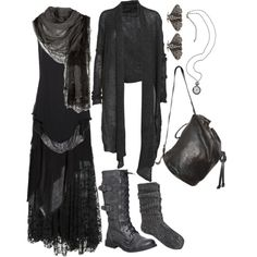 """Drowning In A Sea Of Black"" by n-nyx on Polyvore"