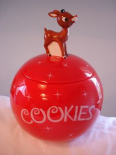 Rudolph The Red Nose Reindeer Cookie Jar by Roman Inc.