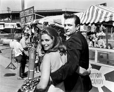 Johnny Cash and June Carter Cash at the fair in 1968