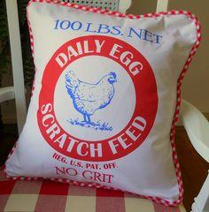 Vintage look pillow cover  Kathys Cottage