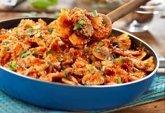 Sautéed mushrooms and garlic simmer in a scrumptious creamy vodka sauce that is tossed with pasta for a quick skillet dish that is sure to please!