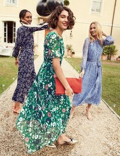 Katherine Midi Dress Special Occasion Dresses at Boden Teenager Outfits, Latest Fashion Dresses, Fashion Outfits, Fashion Clothes, Flippy Skirts, Boden Women, The Dress, Special Occasion Dresses, Green Dress