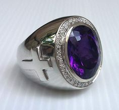 Sterling Silver Men's Rings, Amethyst Men's Ring, Bishop Ring, Silver Cross Ring, Christian Ring by Black Things black color quotes in hindi Gold Gold, Bishop Ring, Sterling Silver Mens Rings, Mens Gemstone Rings, Emerald Gemstone, Gemstone Bracelets, Engagement Rings For Men, Amethyst Stone, Silver Man