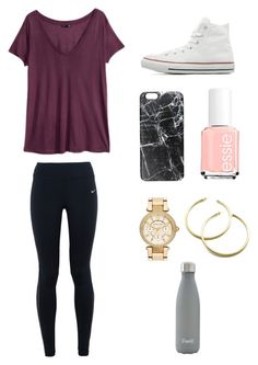 """""""Untitled #181"""" by ktanner02 on Polyvore featuring H&M, NIKE, Converse, Casetify, Essie, MICHAEL Michael Kors, S'well, women's clothing, women's fashion and women"""
