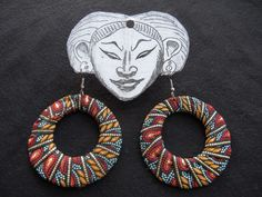 Love these fabric/ribbon earrings. More