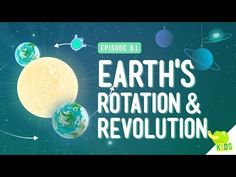 Earth's Rotation & Revolution: Crash Course Kids 8.1 by thecrashcourse: So, have you ever wondered why we have seasons? Or maybe where the sun goes when it's night time? *Hint: It doesn't actually go anywhere* In this episode of Crash Course Kids, Sabrina talks about the Earth's rotation and revolution and how these things contribute to night and day and how Earth's tilt gives us seasons. Support at: http://patreon.com/crashcourse