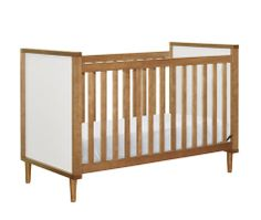 With classic mid-century details the Skip 3-in-1 Convertible Crib from Babyletto is as stunning as it is versatile.
