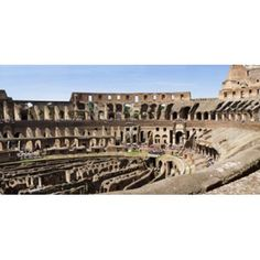 Interiors of an amphitheater Coliseum Rome Lazio Italy Canvas Art - Panoramic Images (24 x 12)
