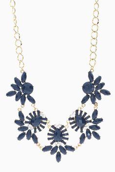 Navy-Blue-Jewel-Rhinestone-Accent-Necklace/Earring-Set
