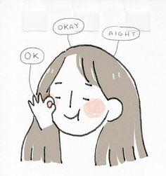 Japanese Illustration, Cute Illustration, Kawaii Drawings, Cute Drawings, Character Drawing, Character Design, Arte Indie, Minimalist Icons, Manga