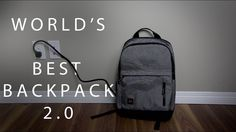 So I think I found my new favourite backpack. The MOS Pack honestly is the best thing I have seen this year when it comes to bags. It has a power cord instal. Cool Backpacks, Packing, Tech, Bags, Youtube, Bag Packaging, Technology, Handbags, Dime Bags