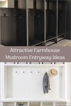 ✓ 10 Attractive Farmhouse Mudroom Entryway Ideas - Even a shallow house, just like the one pictured right here, can perform as a mudroom with inventive storage design. Small Mudroom Ideas, Entryway Ideas, Ikea Mud Room, Small Entryways, Storage Design, Wardrobe Rack, Lockers, Farmhouse, Shallow